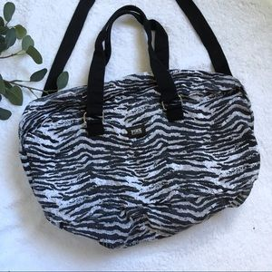 VS PINK zebra print duffel bag